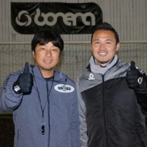 三浦淳宏さんとのツーショット写真です。
