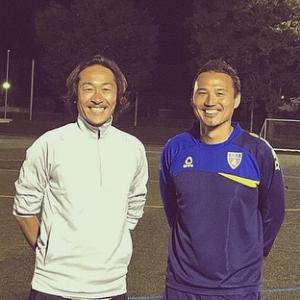 石川直宏さんとのツーショット写真です。